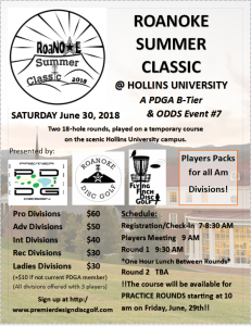 Roanoke Summer Classic flyer